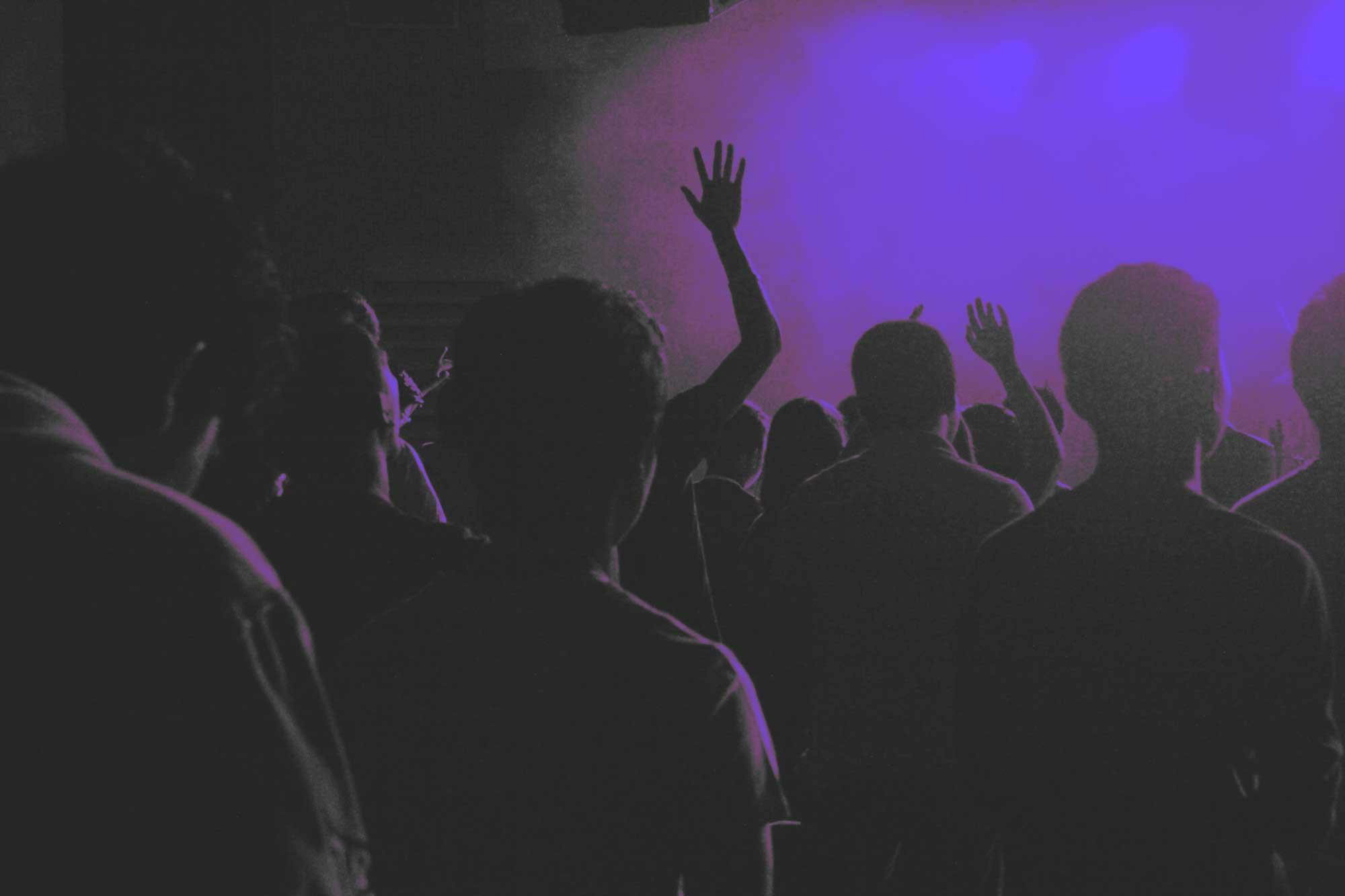 People dancing in a venue