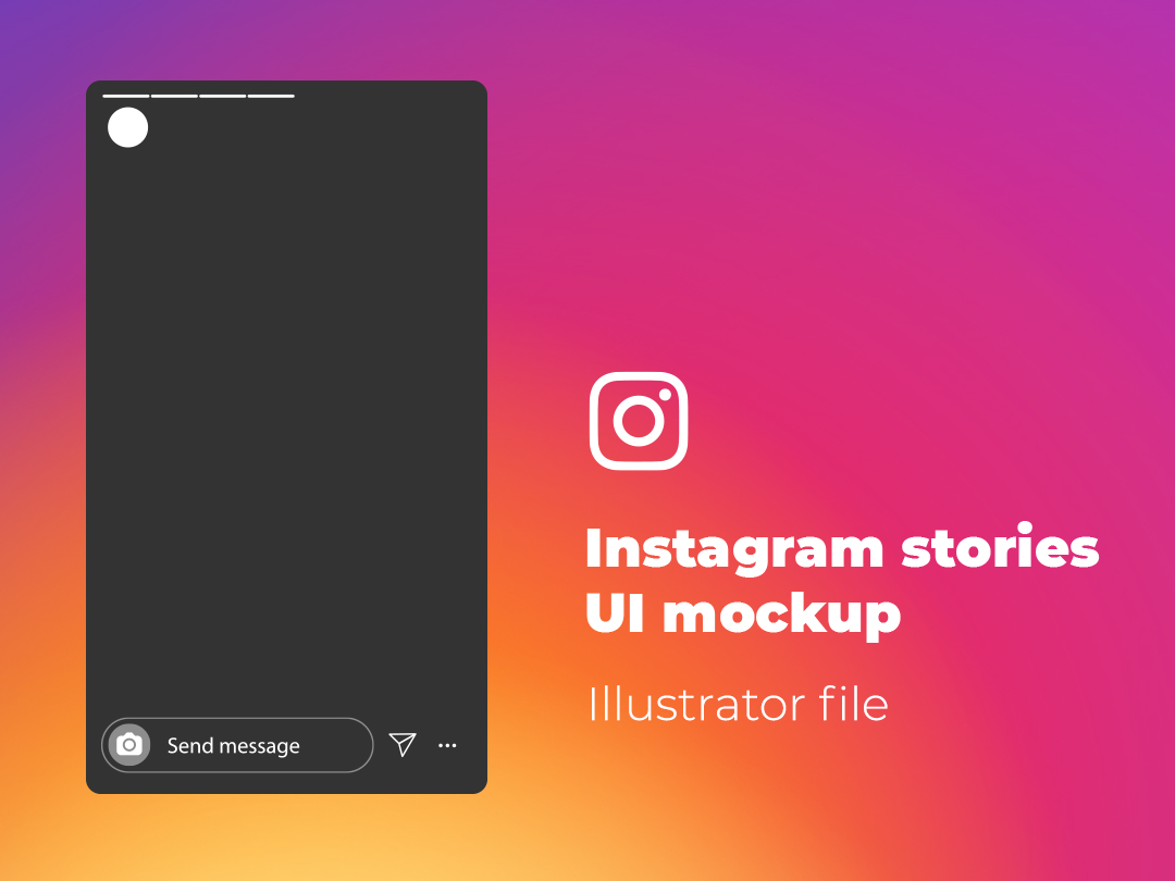 Instagram stories mockup file